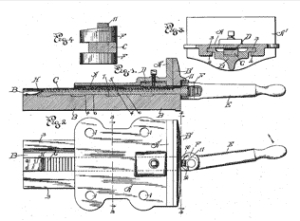 US Patent 656,793 - Woodworkers Vise