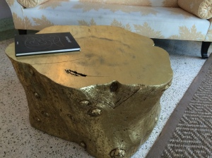 ...and here is a gold leafed stump.