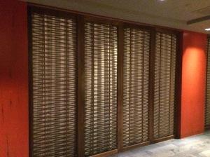 Panel doors that close off the door.  CNC'd  but a very slick design.