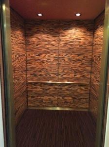 A different hotel in Miami had woodgrain elevators.  Again, very odd on the beach.